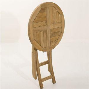 Table de jardin en bois ronde - Acheter en ligne avec les bonnes ...