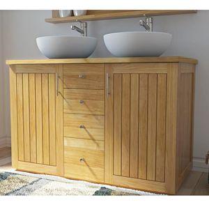 meuble salle de bain avec 2 vasques 120 cm achat vente meuble salle de bain avec 2 vasques. Black Bedroom Furniture Sets. Home Design Ideas
