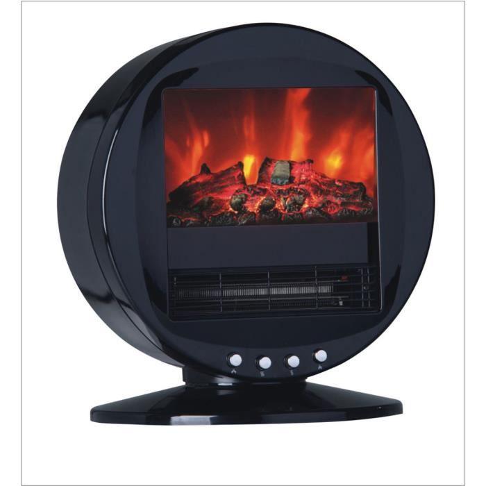 Chemin e chauffage radiateur electrique effet flamme foyer de buche pour maison salon chambre ou - Chauffage d appoint electrique ...