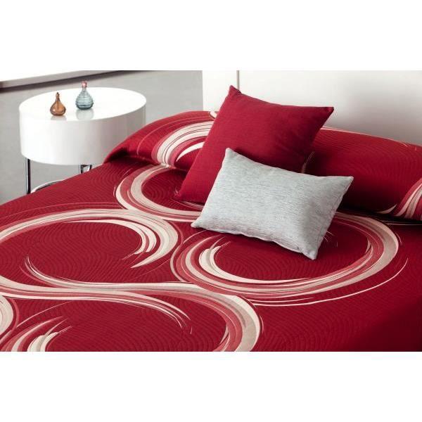 couvre lit 250x270 cm tiss jacquard aime rouge pour lit de 160x200 cm fabriqu en espagne c 02. Black Bedroom Furniture Sets. Home Design Ideas