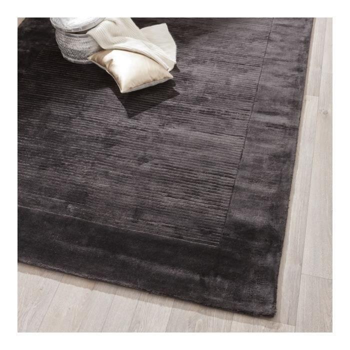 allotapis tapis d 39 int rieur uni gris fonc alvin 160x230cm vison achat vente tapis. Black Bedroom Furniture Sets. Home Design Ideas