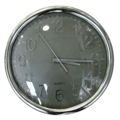 horloge silencieuse grise achat vente horloge cdiscount. Black Bedroom Furniture Sets. Home Design Ideas