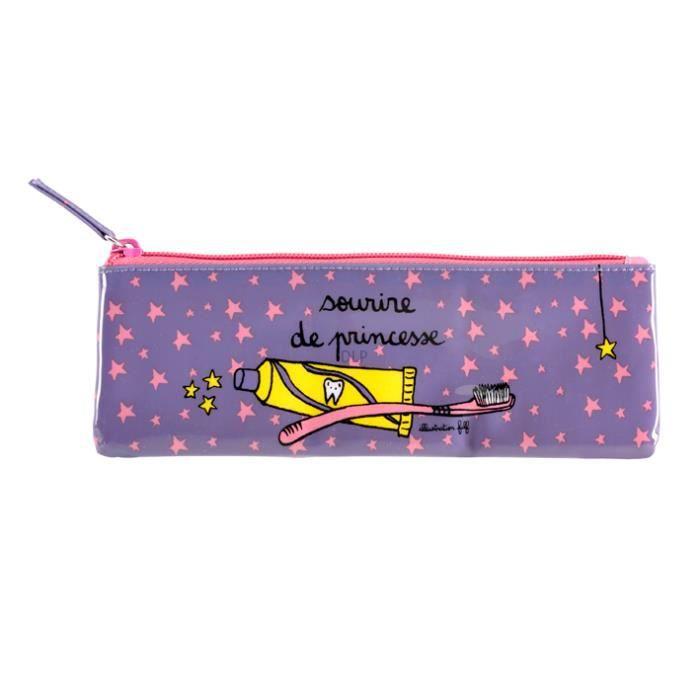 Trousse brosse dents princesse derri re la porte violet for Derriere la porte boutique