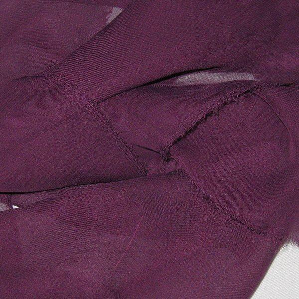 Tissu mousseline unie conditionnement au metre couleurs prune achat - Mousse polyester au metre ...