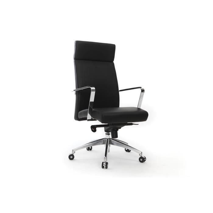 Fauteuil de bureau cuir noir giovanni achat vente - Achat fauteuil de bureau ...
