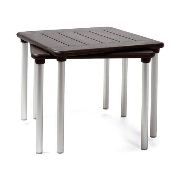 Table d 39 appoint nardi maestrale 90 cm tortora achat for Table d appoint jardin