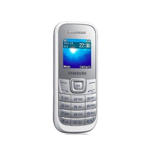 telephone portable samsung e 1200 blanc t l phone portable prix pas cher cdiscount. Black Bedroom Furniture Sets. Home Design Ideas