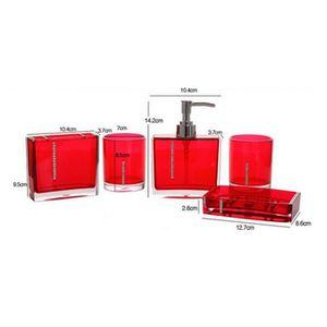 Accessoire salle de bain rouge achat vente accessoire for Accessoires salle de bain paris 16