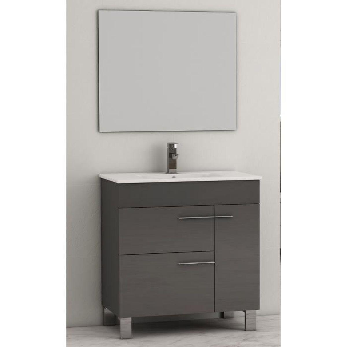 Meuble bas salle de bain 2 portes   achat / vente meuble bas salle ...