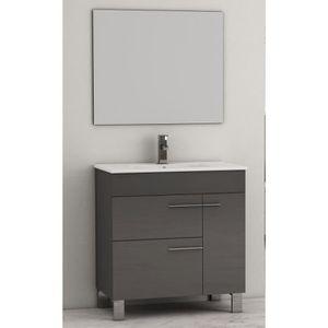 Meuble bas 2 portes salle de bain achat vente meuble for Meuble salle de bain 2 portes 1 tiroir
