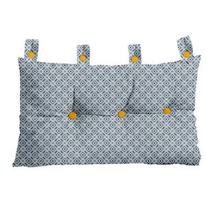COUSSIN TODAY Tête de lit Faience 100% coton 45x70 cm prus