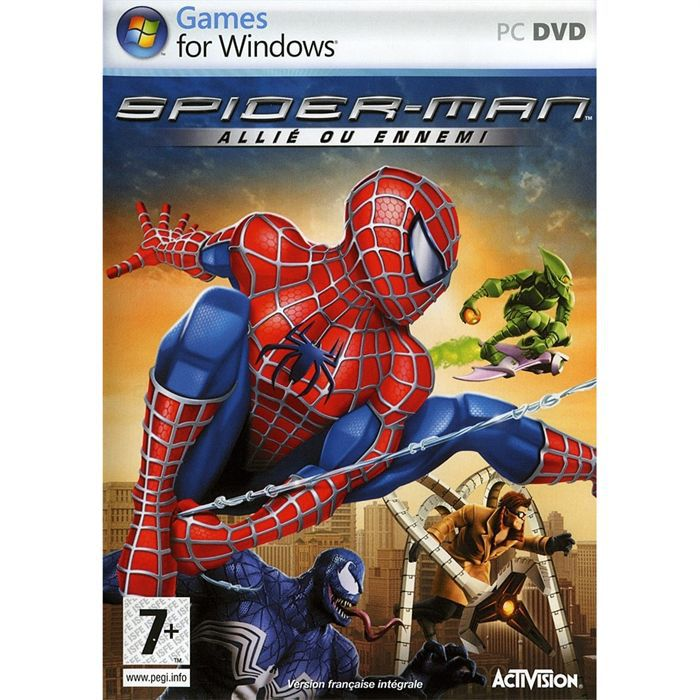 spiderman allie ou ennemi jeu pc dvd rom achat vente jeu pc spiderman allie ou ennemi pc. Black Bedroom Furniture Sets. Home Design Ideas