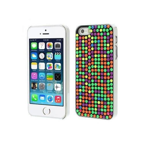 Coque points 3d en couleur pour iphone 5 5s achat for Cuisine 3d pour iphone