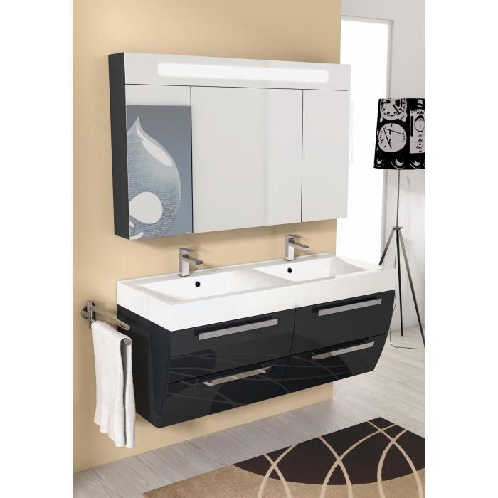 Aurora meuble pour salle de bains avec vier et miroir for Meuble salle de bain avec evier