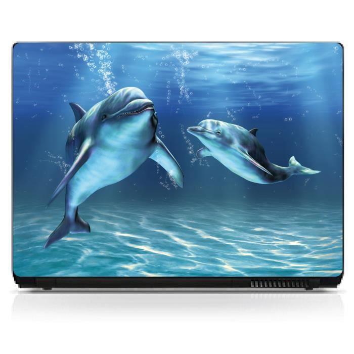 stickers pc ordinateur portable dauphin pc 10 achat. Black Bedroom Furniture Sets. Home Design Ideas