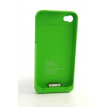 coque batterie rechargeable verte pour apple iphone 3g 3gs 4 4s achat vente coque. Black Bedroom Furniture Sets. Home Design Ideas
