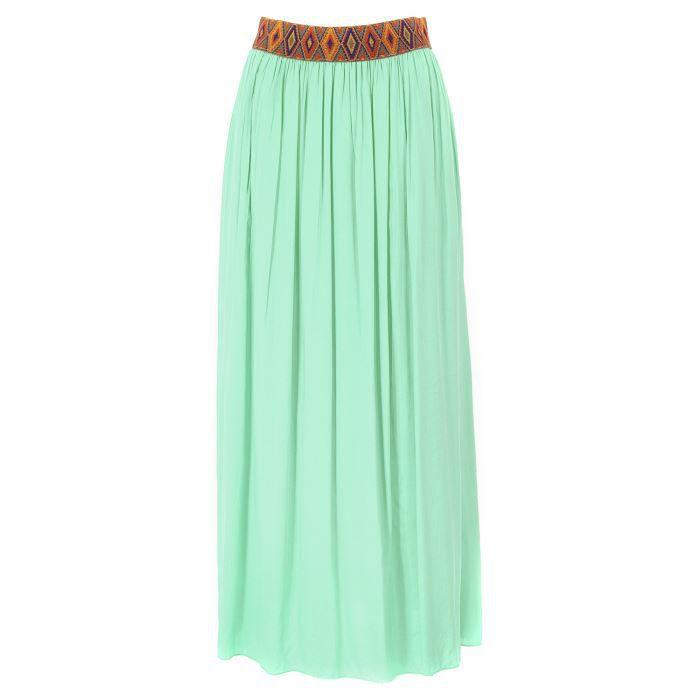 jupe longue avec ceinture ethniq vert d 39 eau vert d 39 eau achat vente jupe kilt jupe. Black Bedroom Furniture Sets. Home Design Ideas