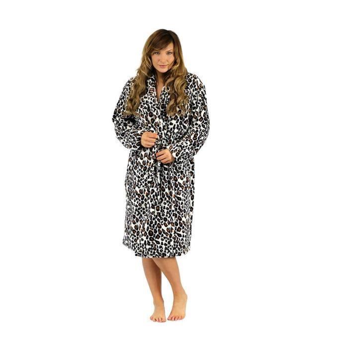 robe de chambre l opard pour femmes l opard achat vente chemise de nuit cdiscount. Black Bedroom Furniture Sets. Home Design Ideas