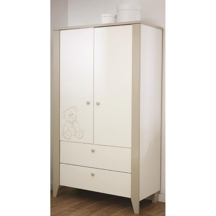 armoire 2 portes panneaux de particules m lamin s. Black Bedroom Furniture Sets. Home Design Ideas