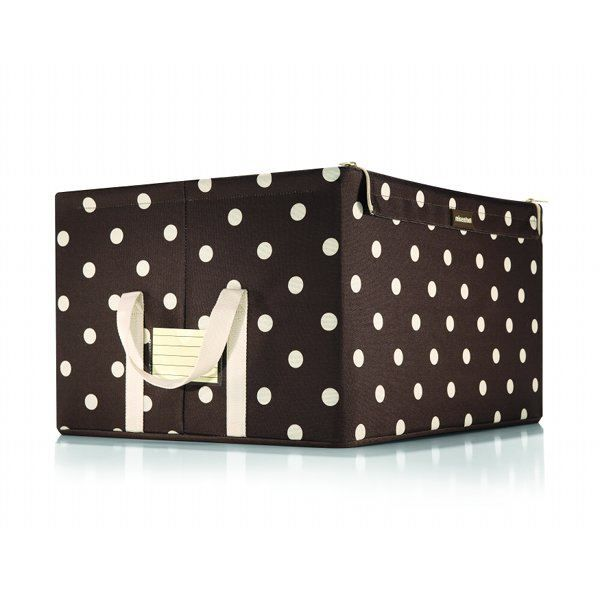 boite pour placard l marron points blancs achat vente boite de rangement cdiscount. Black Bedroom Furniture Sets. Home Design Ideas