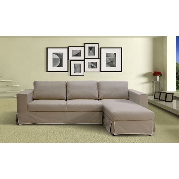 Canap d 39 angle droit neptune tissu taupe achat vente canap sofa divan cdiscount for Canape angle droit tissu lille