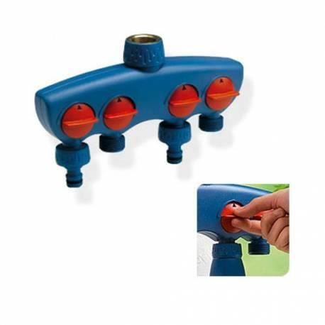 Prise de robinet quatre sorties pour tuyau d 39 arrosage for Robinet d arrosage jardin