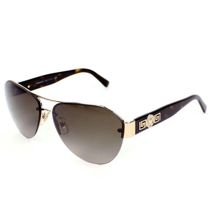 lunettes de soleil versace ve2143 or havane or marron achat vente lunettes de soleil. Black Bedroom Furniture Sets. Home Design Ideas