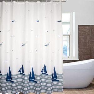 rideaux blanc et bleu achat vente rideaux blanc et bleu pas cher cdiscount. Black Bedroom Furniture Sets. Home Design Ideas