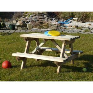 table pique nique pour enfant achat vente table pique. Black Bedroom Furniture Sets. Home Design Ideas