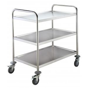 Chariot inox achat vente chariot inox pas cher cdiscount for Chariot inox professionnel