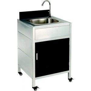 Evier design gardena couleur inox mati re inox achat for Table exterieure a roulettes