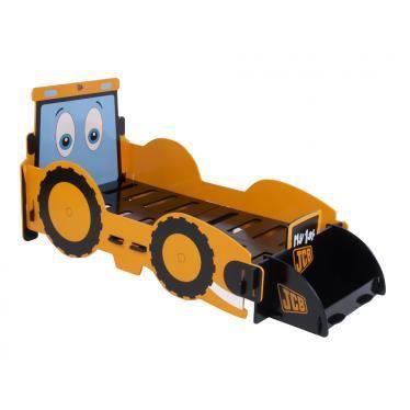 Lit junior tracteur 70 x 140 cm avec coffre jouets for Lit tracteur