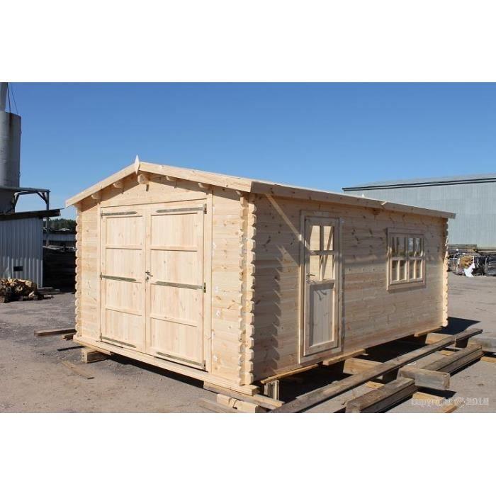 Garage en bois 4x6m p 44mm achat vente garage garage en bois 4x6m p 4 - Garage bois discount ...