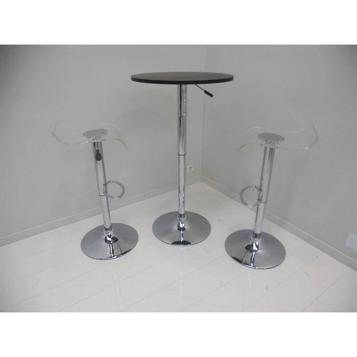 Ensemble table bar astrid noir 2 tabourets achat - Ensemble table bar ...