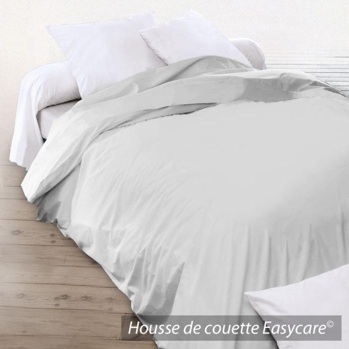 housse de couette coton 300x240 gris clair achat vente housse de couette cdiscount. Black Bedroom Furniture Sets. Home Design Ideas