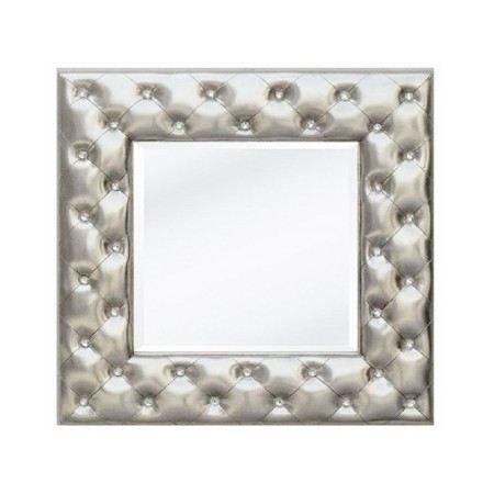 Miroir capitonn altesse argent achat vente miroir for Miroir contour argent