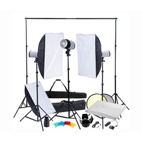 kit clairage studio pro complet support de fond achat. Black Bedroom Furniture Sets. Home Design Ideas