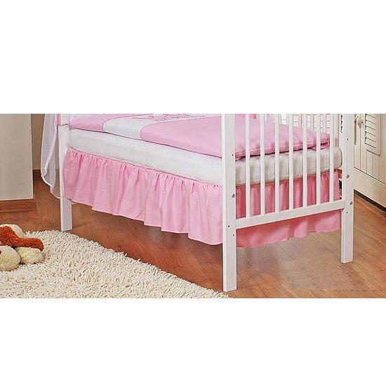 cache sommier pour lit 140x70 princesse rose achat vente cache sommier cdiscount. Black Bedroom Furniture Sets. Home Design Ideas
