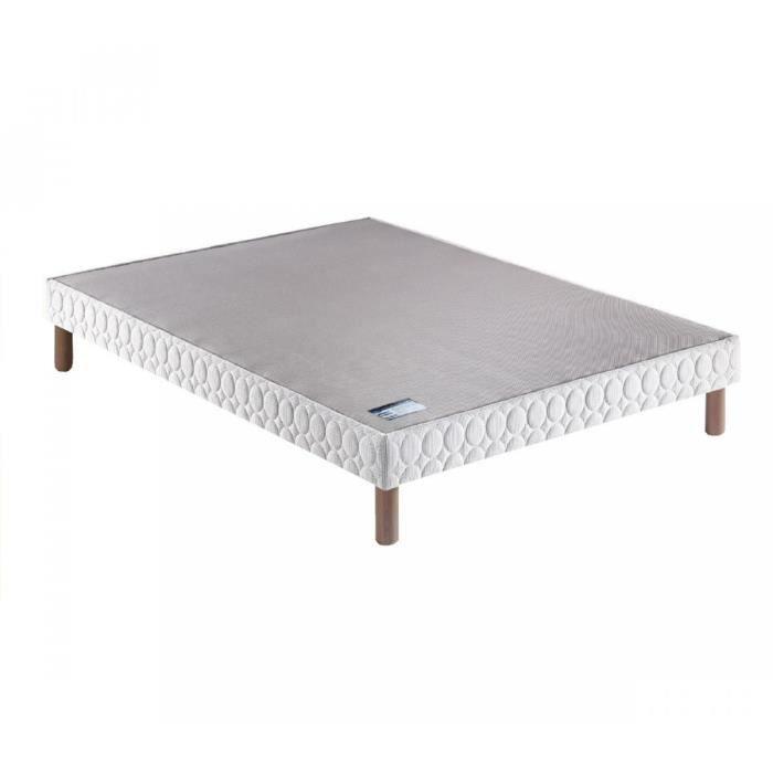 sommier tapissier merinos confort ferme 3d pieds 160x200. Black Bedroom Furniture Sets. Home Design Ideas
