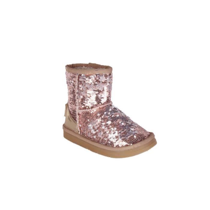 boots bottines enfant rose paillettes rose rose achat vente bottine soldes cdiscount. Black Bedroom Furniture Sets. Home Design Ideas