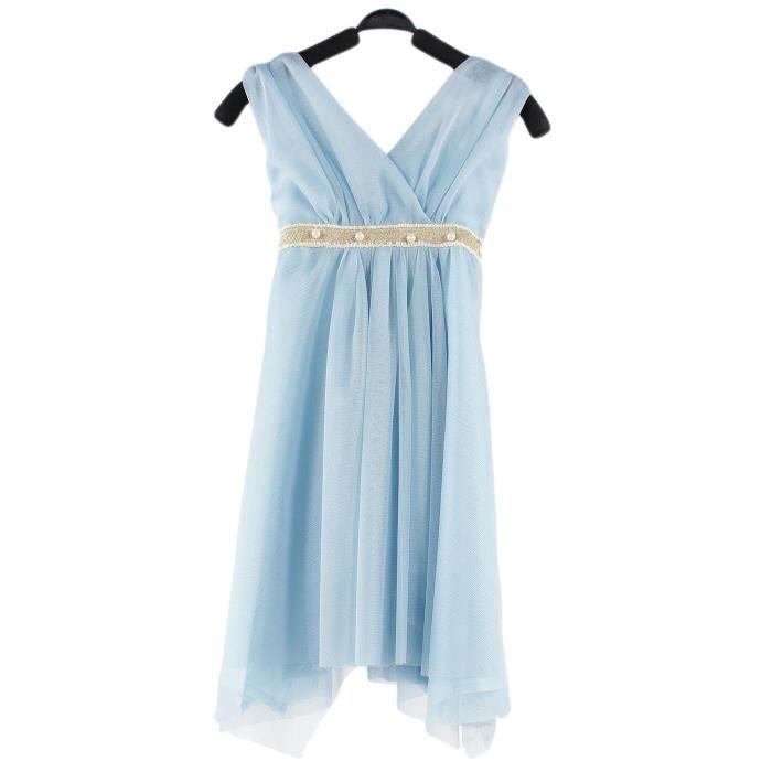 robe de soir e enfant fille bleue chic et classique blanc achat vente robe de c r monie. Black Bedroom Furniture Sets. Home Design Ideas