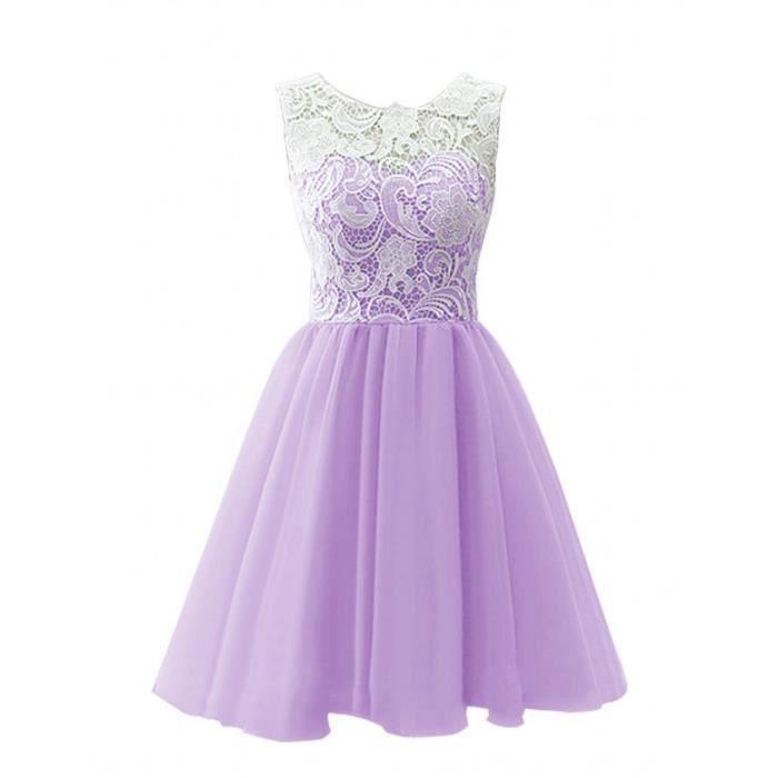 Nouveau lavande mariage formel courte robe de bal robe de for Robe de lavande pour mariage