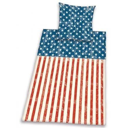 drapeau americain parure de lit achat vente parure de couette cdiscount. Black Bedroom Furniture Sets. Home Design Ideas