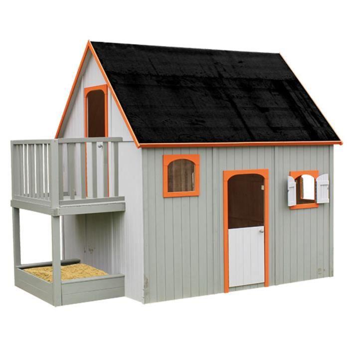 Maisonnette en bois pour enfant 3 05 x 2 10 x 2 10 m for Maison plein air enfant