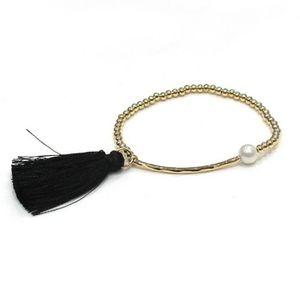 bracelet femme avec pompons achat vente pas cher cdiscount. Black Bedroom Furniture Sets. Home Design Ideas
