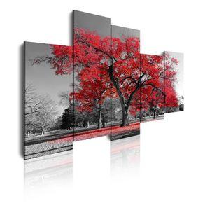 tableau toile arbre rouge achat vente tableau toile arbre rouge pas cher les soldes sur. Black Bedroom Furniture Sets. Home Design Ideas