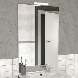 miroir salle de bain 140 cm achat vente miroir salle de bain 140 cm pas cher cdiscount. Black Bedroom Furniture Sets. Home Design Ideas