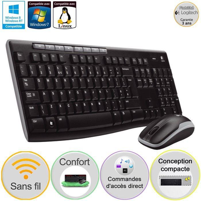 logitech pack clavier souris sans fil mk260 prix pas cher cdiscount. Black Bedroom Furniture Sets. Home Design Ideas