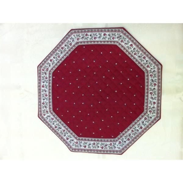 Set de table octogonal exlusif fa ence rouge cru achat - Set de table lavable en machine ...
