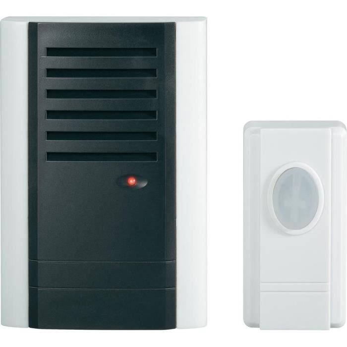 sonnette sans fil blanc 433 mhz achat vente sonnette carillon cdiscount. Black Bedroom Furniture Sets. Home Design Ideas